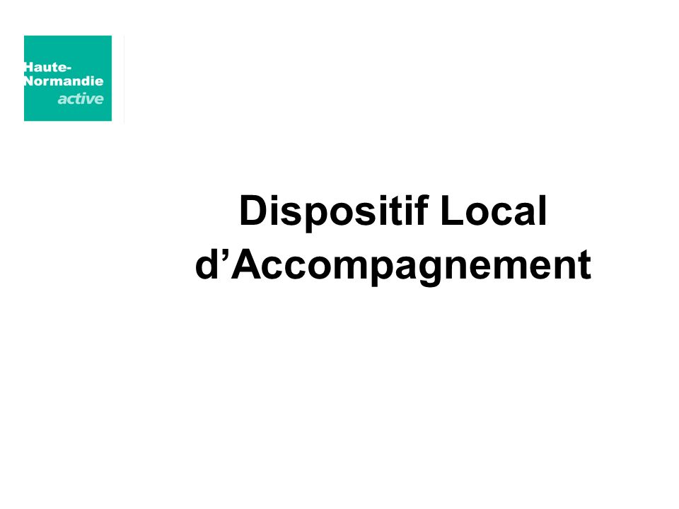 Dispositif Local dAccompagnement