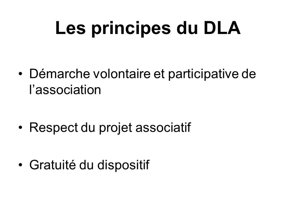 Les principes du DLA Démarche volontaire et participative de lassociation Respect du projet associatif Gratuité du dispositif