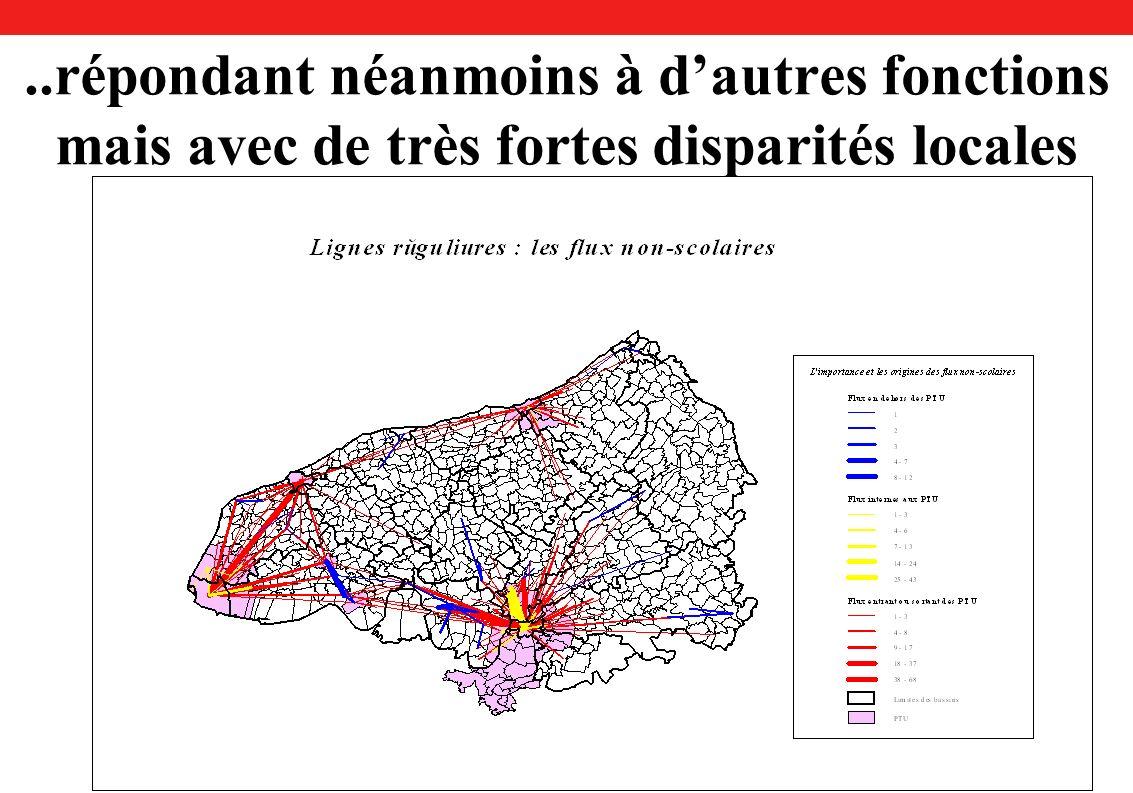 ..répondant néanmoins à dautres fonctions mais avec de très fortes disparités locales