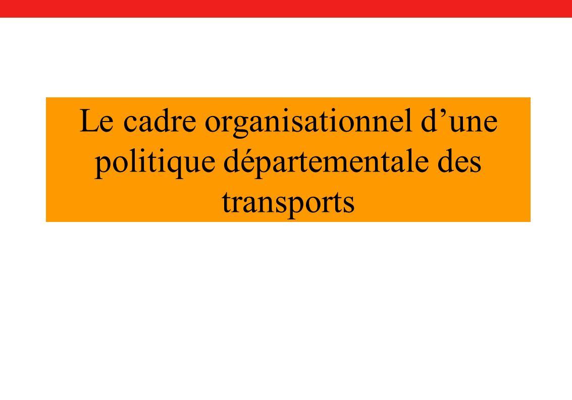 Le cadre organisationnel dune politique départementale des transports