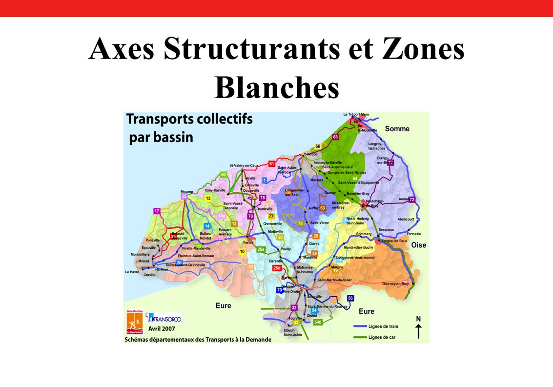 Axes Structurants et Zones Blanches