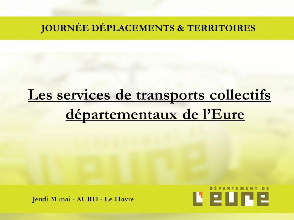 JOURNÉE DÉPLACEMENTS & TERRITOIRES Jeudi 31 mai - AURH - Le Havre Les services de transports collectifs départementaux de lEure