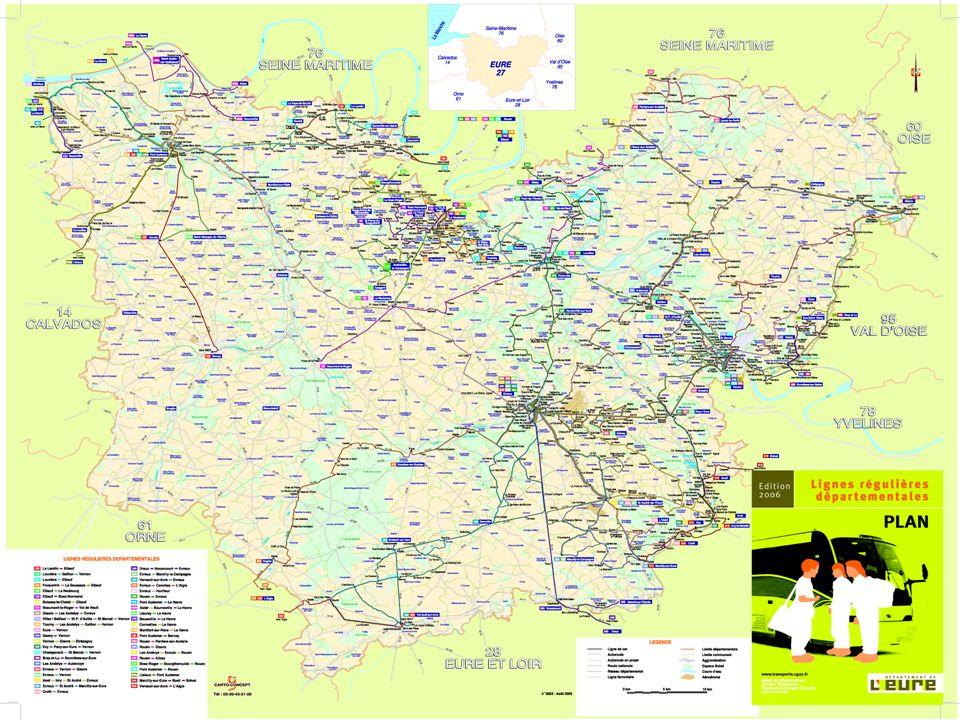 Le réseau de lignes régulières départementales 43 lignes régulières 700 points darrêts 750 circuits spéciaux 27 000 élèves transportés 4 000 points darrêts