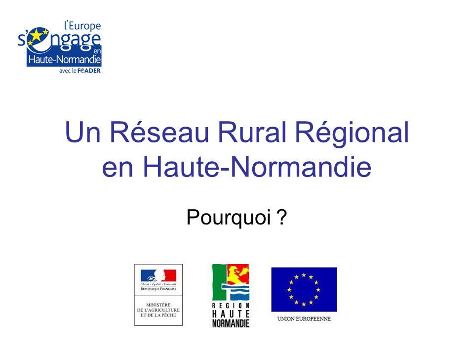 Un Réseau Rural Régional en Haute-Normandie Pourquoi