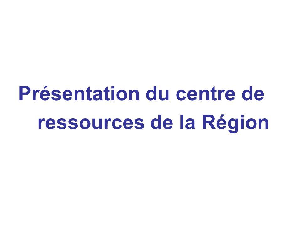 Présentation du centre de ressources de la Région