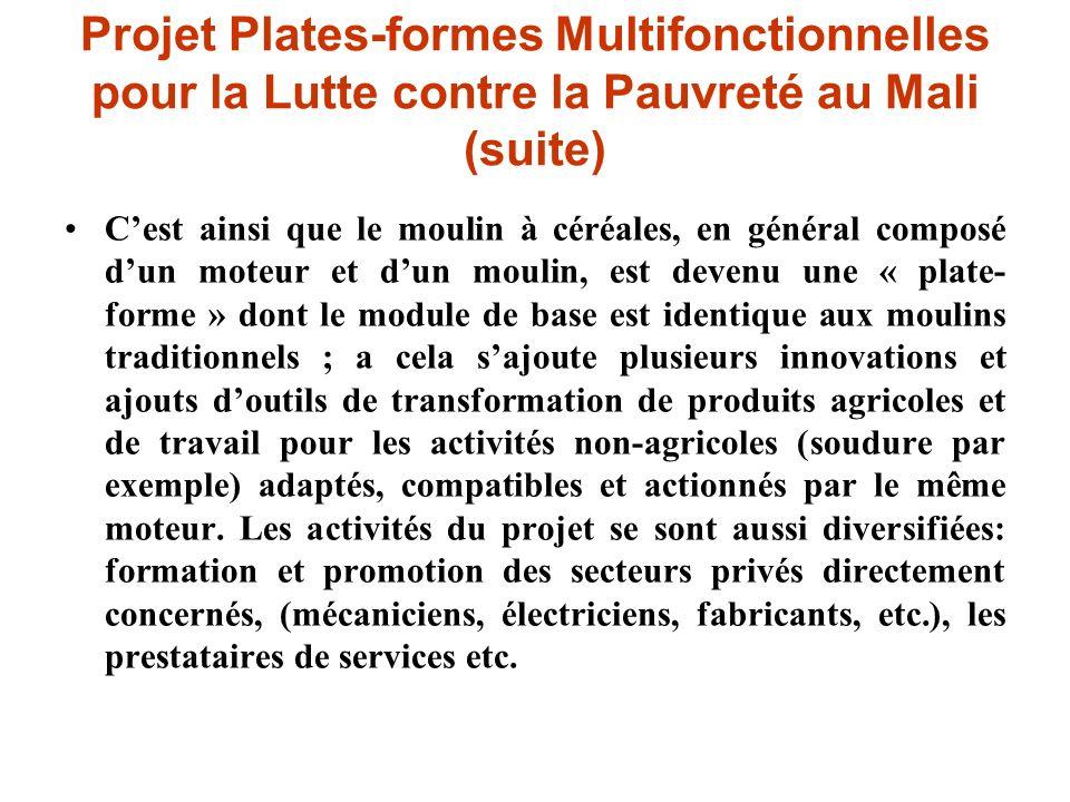 Cest ainsi que le moulin à céréales, en général composé dun moteur et dun moulin, est devenu une « plate- forme » dont le module de base est identique