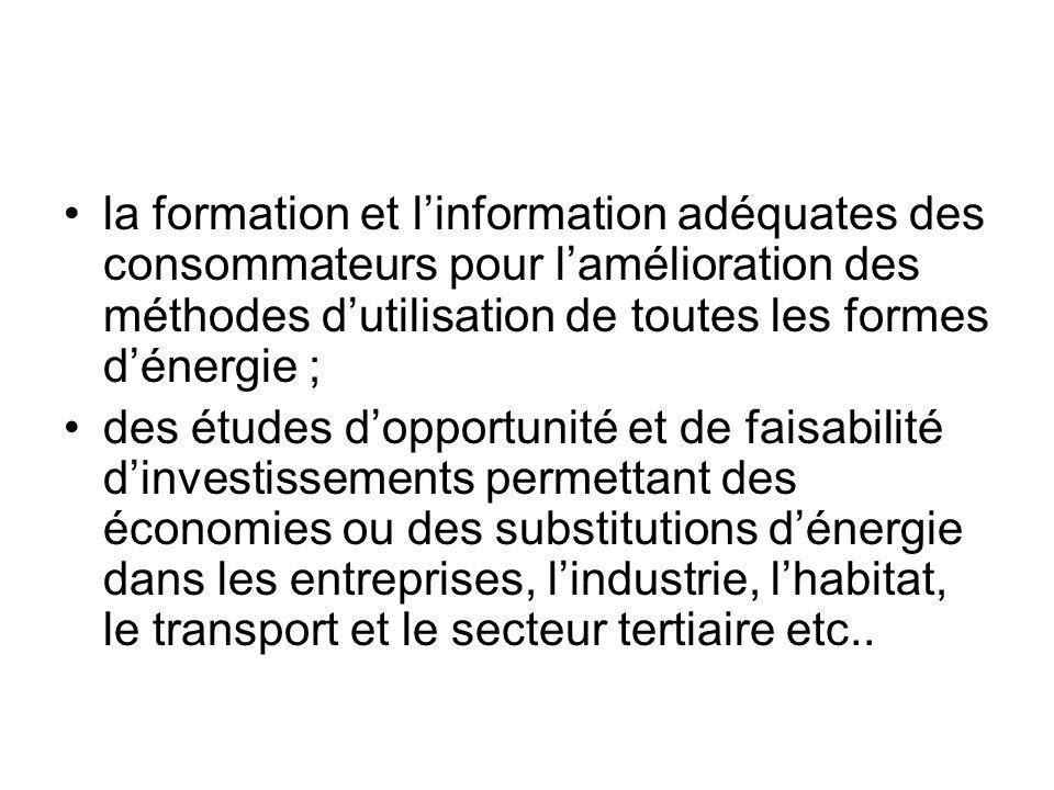 Le Programme National de Maîtrise et dEconomie dEnergie (PRONAME) ) dont létude préliminaire est financée par lEtat malien à hauteur de 96 millions de Fcfa pour lannée 2004, permettra la mise en œuvre de ces axes stratégiques.