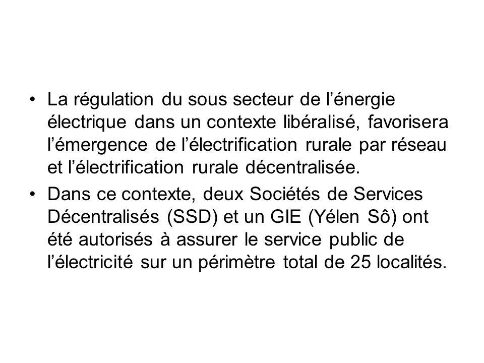 La régulation du sous secteur de lénergie électrique dans un contexte libéralisé, favorisera lémergence de lélectrification rurale par réseau et lélec