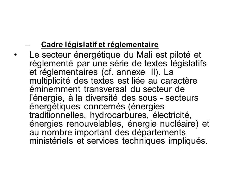 La plupart des textes consacrent le recentrage du rôle de lEtat, le désengagement de lEtat des activités opérationnelles et louverture du secteur énergétique aux opérateurs privés de toute origine (nationale ou étrangère).