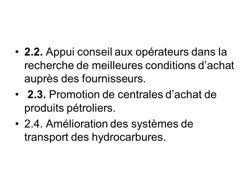 4.1.Etablissement dun cadre réglementaire et normatif approprié pour les hydrocarbures.