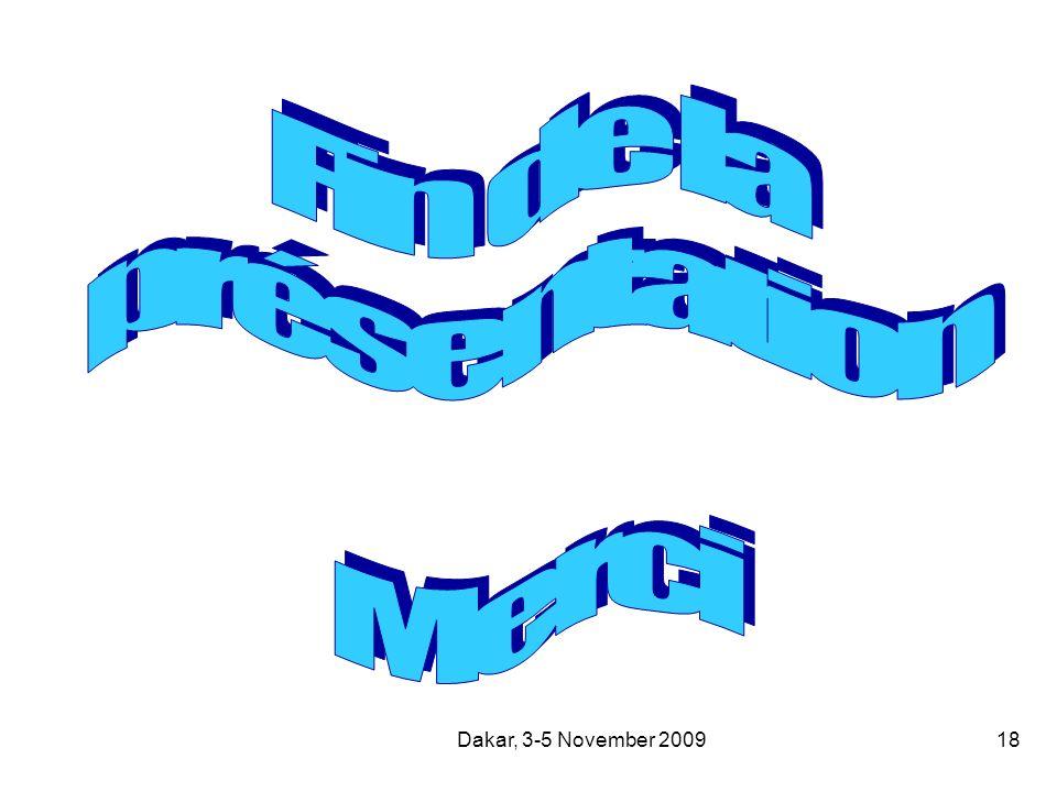 Dakar, 3-5 November 200918
