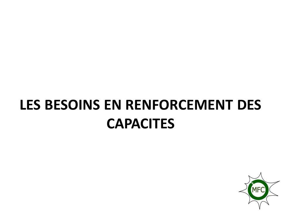 LES BESOINS EN RENFORCEMENT DES CAPACITES