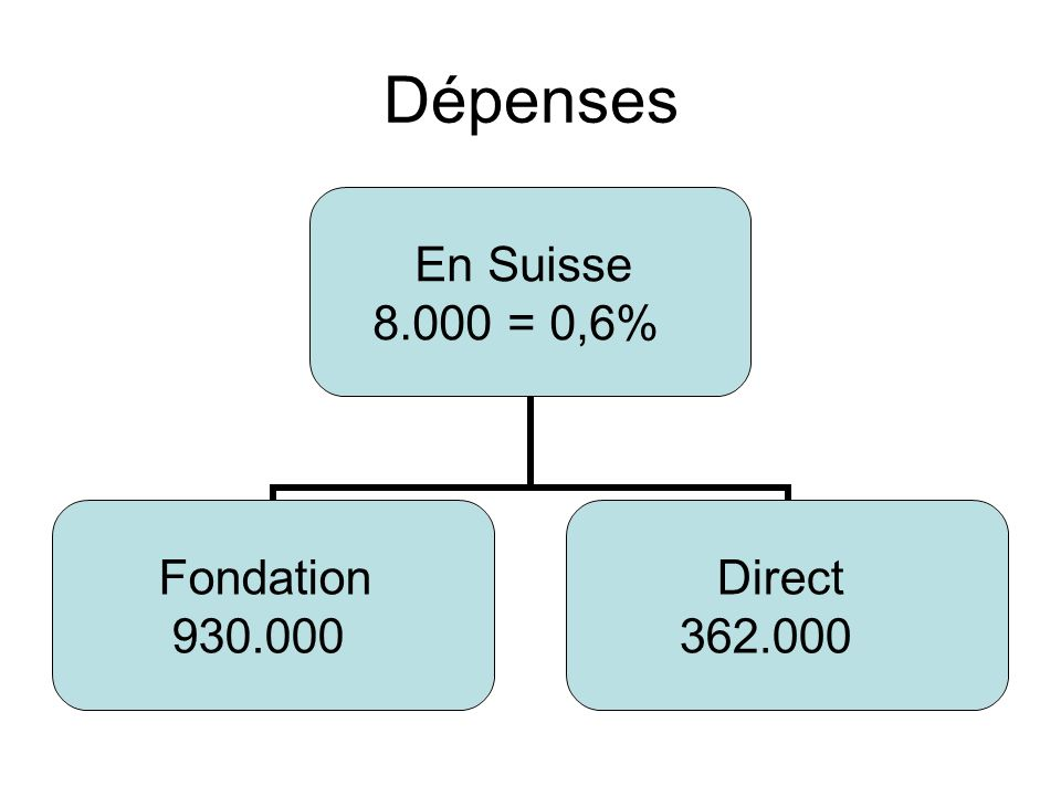 Dépenses En Suisse = 0,6% Fondation Direct