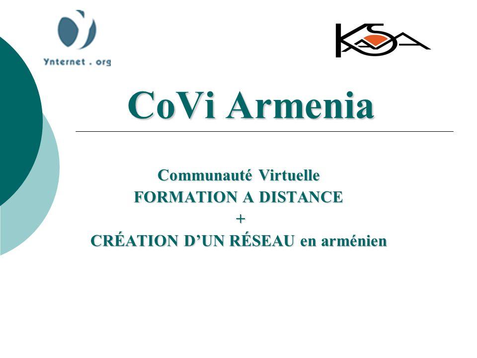 CoVi Armenia Communauté Virtuelle FORMATION A DISTANCE + CRÉATION DUN RÉSEAU en arménien