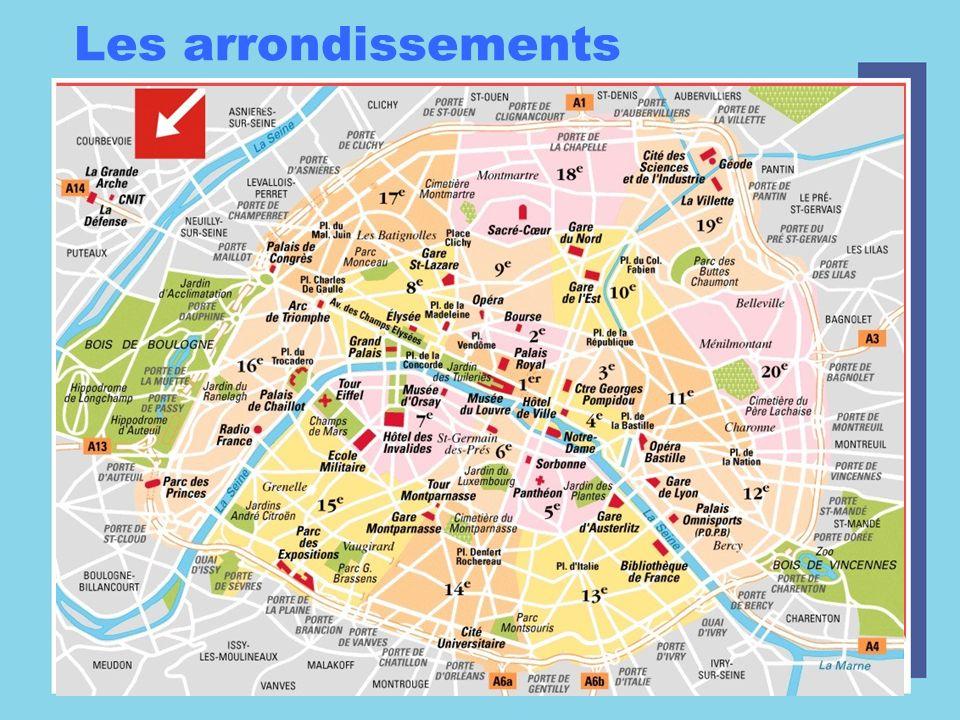 2 banks Paris is divided by La Seine –La rive droite –La rive gauche
