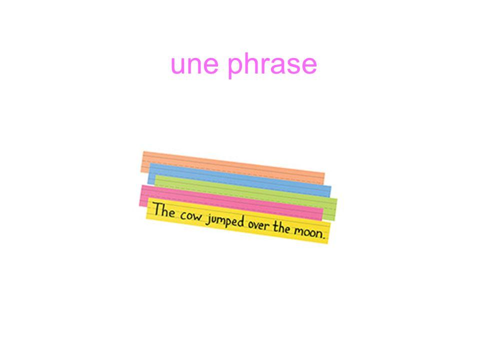 une phrase