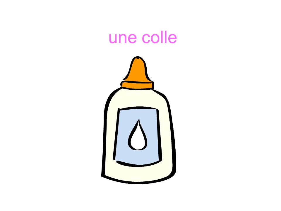 une colle