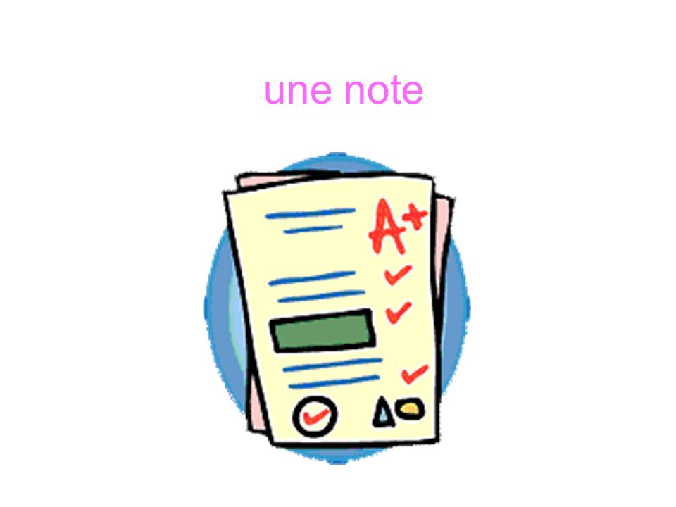 une note