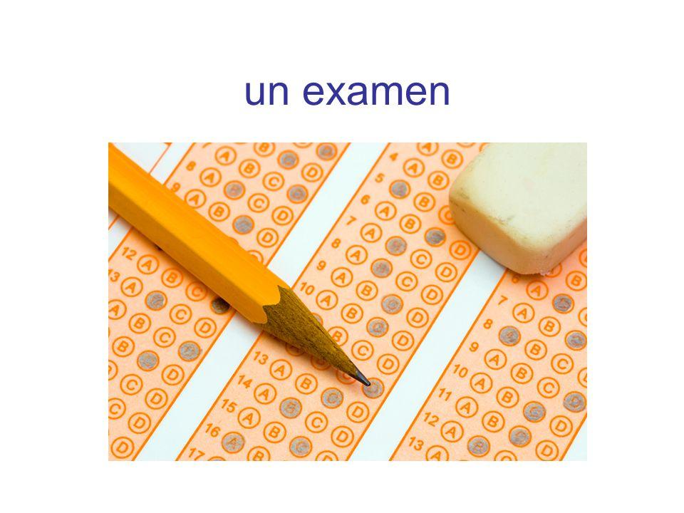 un examen