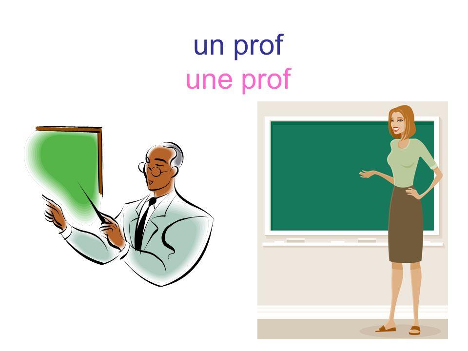 un prof une prof