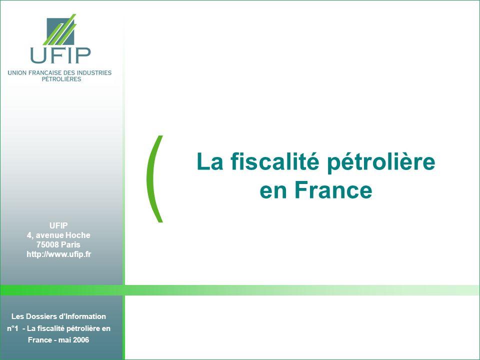 Dossier dinformation N°1 : la Fiscalité Pétrolière en France - juin 2006 10 LIMPORTANCE DES CARBURANTS : 95,5% de la recette TIPP TIPP (*) / litre % Recette TIPP 2005 % Volume 2005 Prix HT 4 mois 2006 Prix TTC 4 mois 2006 Supercarburants0,5892 34,6 %17,9 %0,45361,24 Gazole0,4169 60,9 %50,7 %0,491.08 GPL-c Carburants auto 0,0599 0,1 % 95,6% 0,2 % 68,8% 0,530,71 Fioul domestique FOD ( usage agricole) 0,0566 0,0066 4,2 % 0,2% 22,4 % 3,3 % 0,49 0,66 0,50 (hors TVA) Fioul lourd 1% S / kg 0,0185 0,2 %5,4 %0,2990,318 (hors TVA) (*) TIPP en vigueur depuis 2000 sauf celle du gazole modifiée en 2004