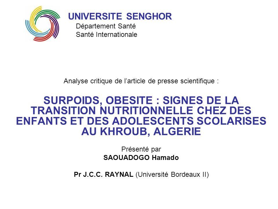 PLAN Introduction I- Synthèse II- Analyse critique Points forts Points faibles Propositions III- Intérêt au Burkina Faso Transférabilité Propositions dintervention Conclusion