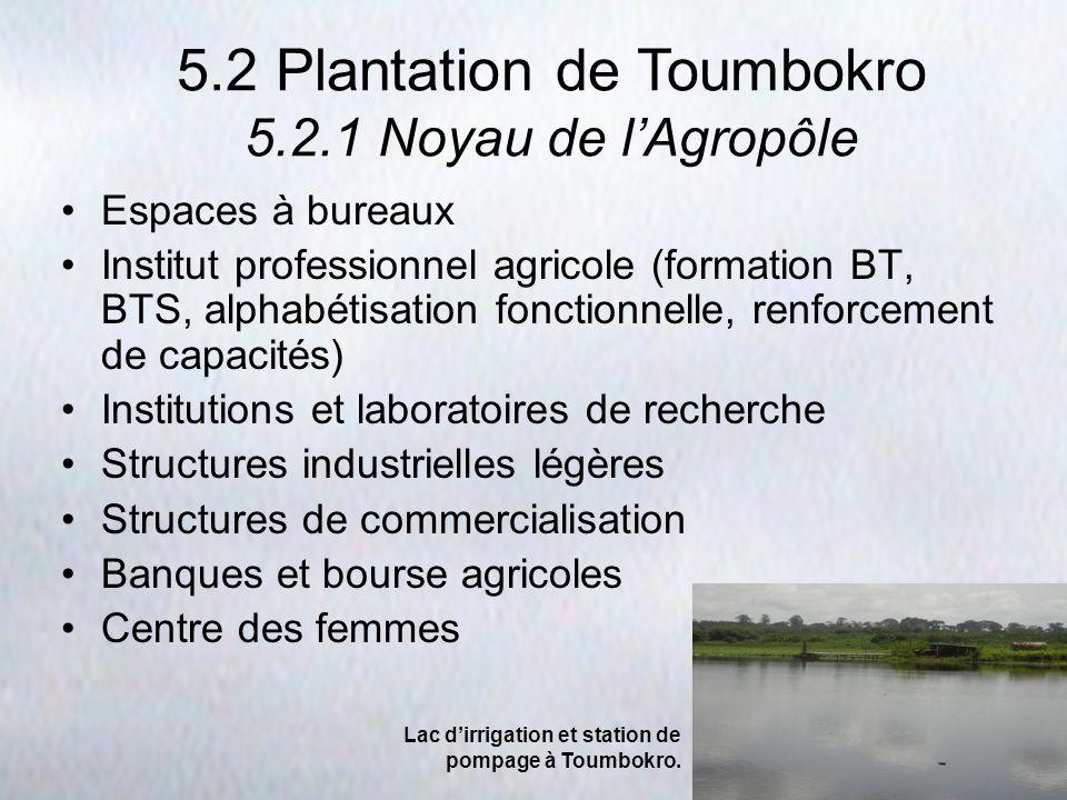 Espaces à bureaux Institut professionnel agricole (formation BT, BTS, alphabétisation fonctionnelle, renforcement de capacités) Institutions et labora