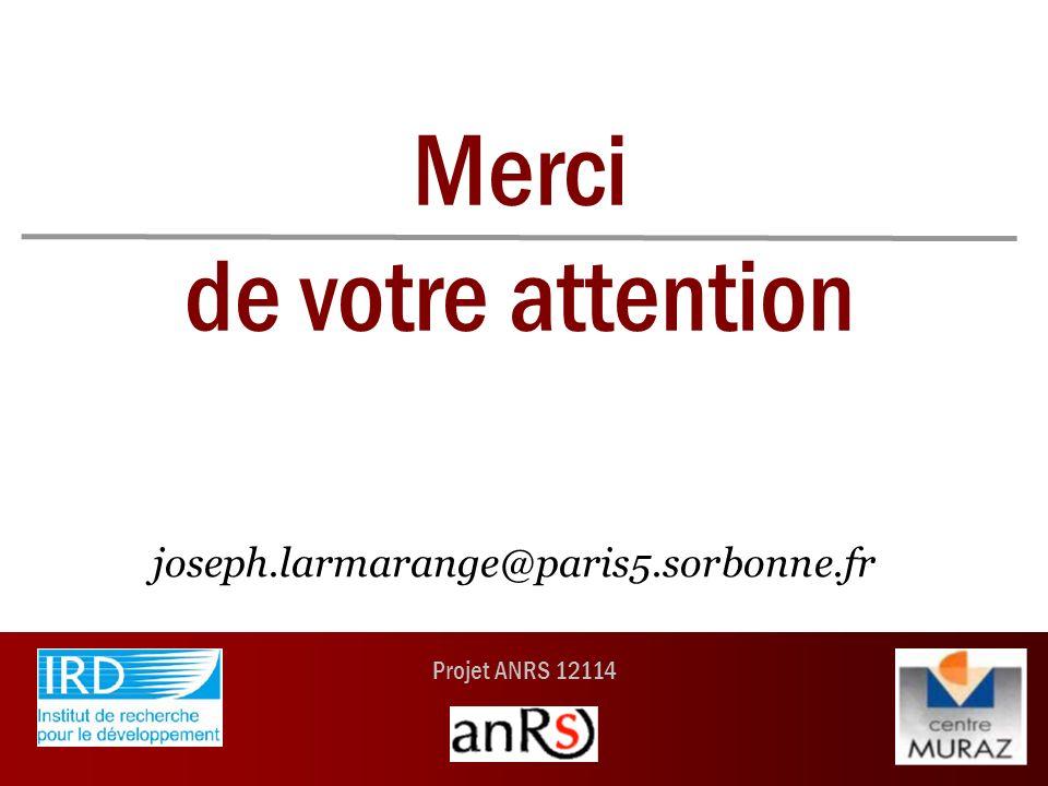 Projet ANRS 12114 Merci de votre attention joseph.larmarange@paris5.sorbonne.fr