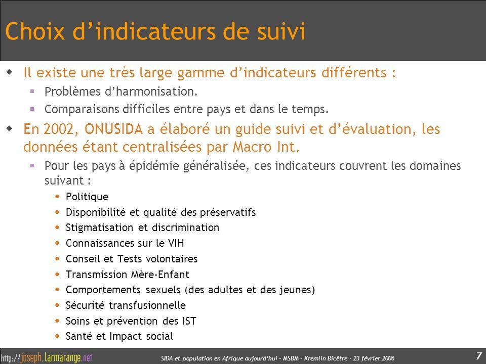 SIDA et population en Afrique aujourdhui - MSBM - Kremlin Bicêtre - 23 février 2006 48 Des dynamiques différentes à différents stades Les forces de diffusion ne sont pas la somme des comportements individuels.