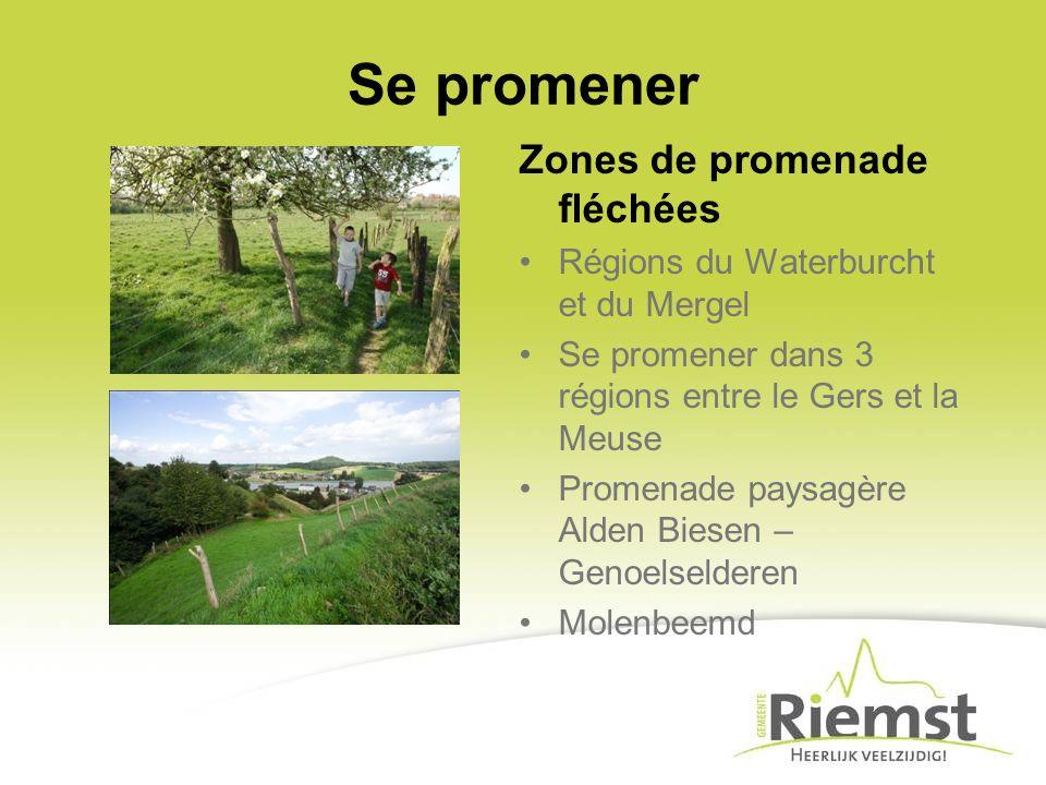 Se promener Zones de promenade fléchées Régions du Waterburcht et du Mergel Se promener dans 3 régions entre le Gers et la Meuse Promenade paysagère Alden Biesen – Genoelselderen Molenbeemd