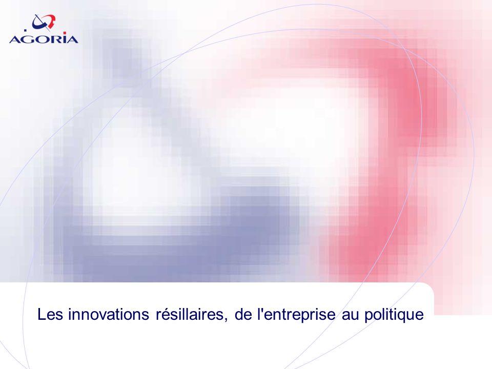 Les innovations résillaires, de l entreprise au politique