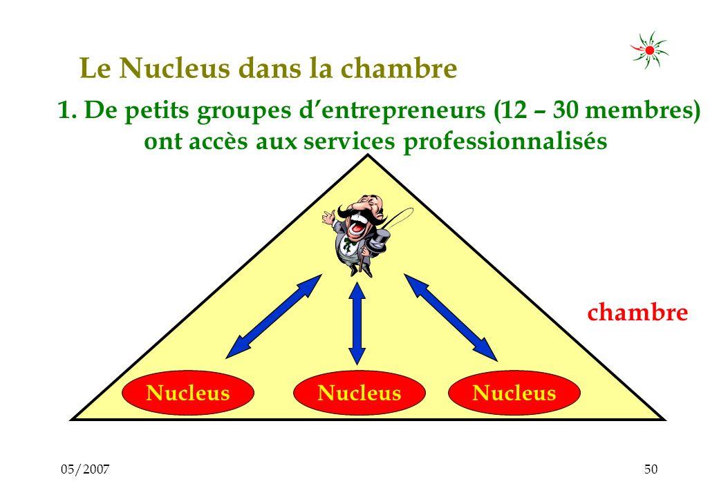 05/200749 5. Le Nucleus dans la chambre