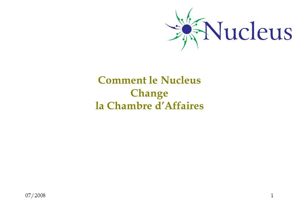 07/20081 Comment le Nucleus Change la Chambre dAffaires