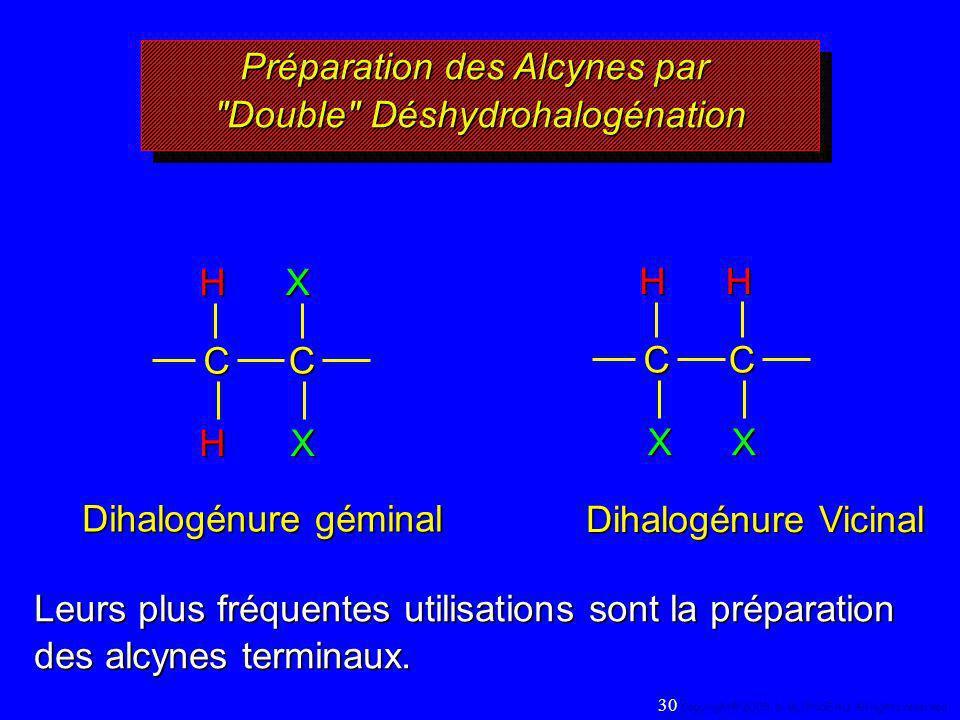 Préparation des Alcynes par