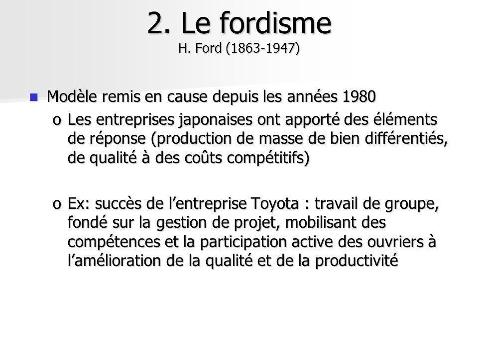 Modèle remis en cause depuis les années 1980 Modèle remis en cause depuis les années 1980 oLes entreprises japonaises ont apporté des éléments de répo