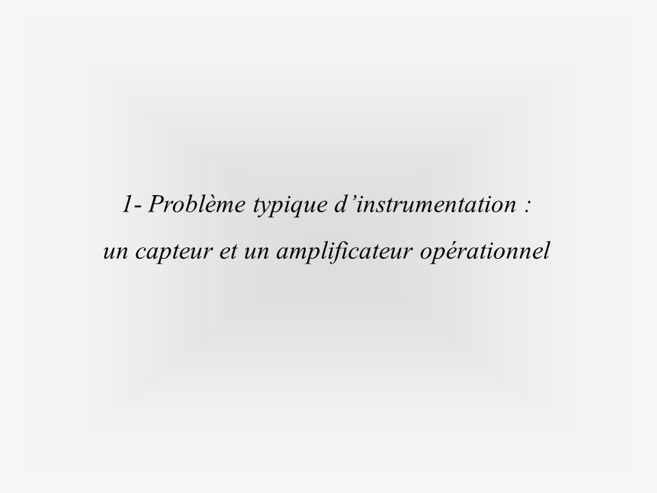 1- Problème typique dinstrumentation : un capteur et un amplificateur opérationnel