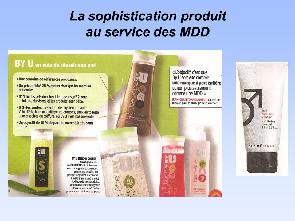 La sophistication produit au service des MDD