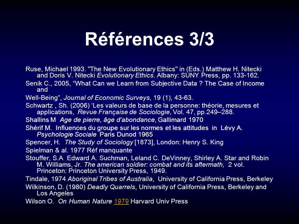 Références 3/3 Ruse, Michael 1993.