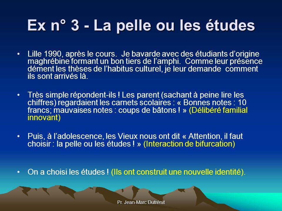 Pr. Jean-Marc Dutrénit Ex n° 3 - La pelle ou les études Lille 1990, après le cours. Je bavarde avec des étudiants dorigine maghrébine formant un bon t
