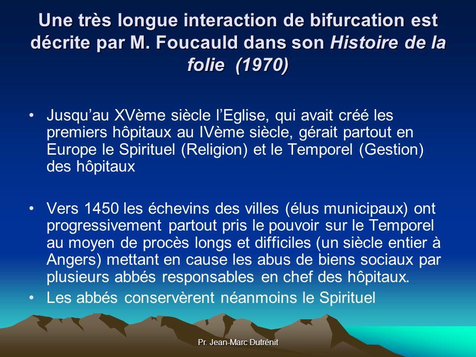 Pr. Jean-Marc Dutrénit Une très longue interaction de bifurcation est décrite par M. Foucauld dans son Histoire de la folie (1970) Jusquau XVème siècl