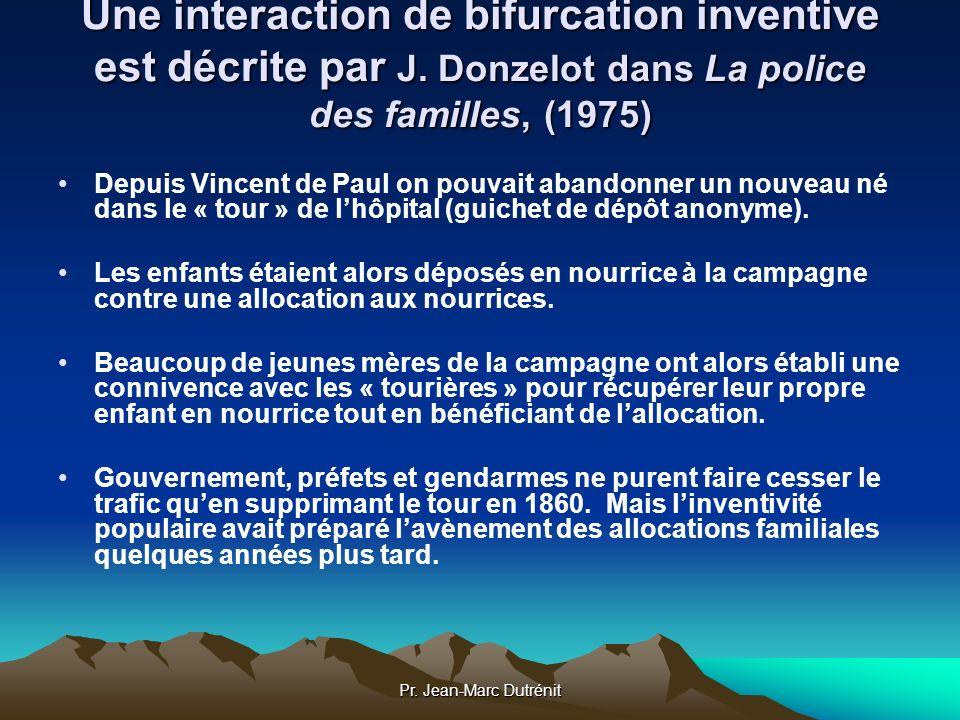 Pr. Jean-Marc Dutrénit Une interaction de bifurcation inventive est décrite par J. Donzelot dans La police des familles, (1975) Depuis Vincent de Paul