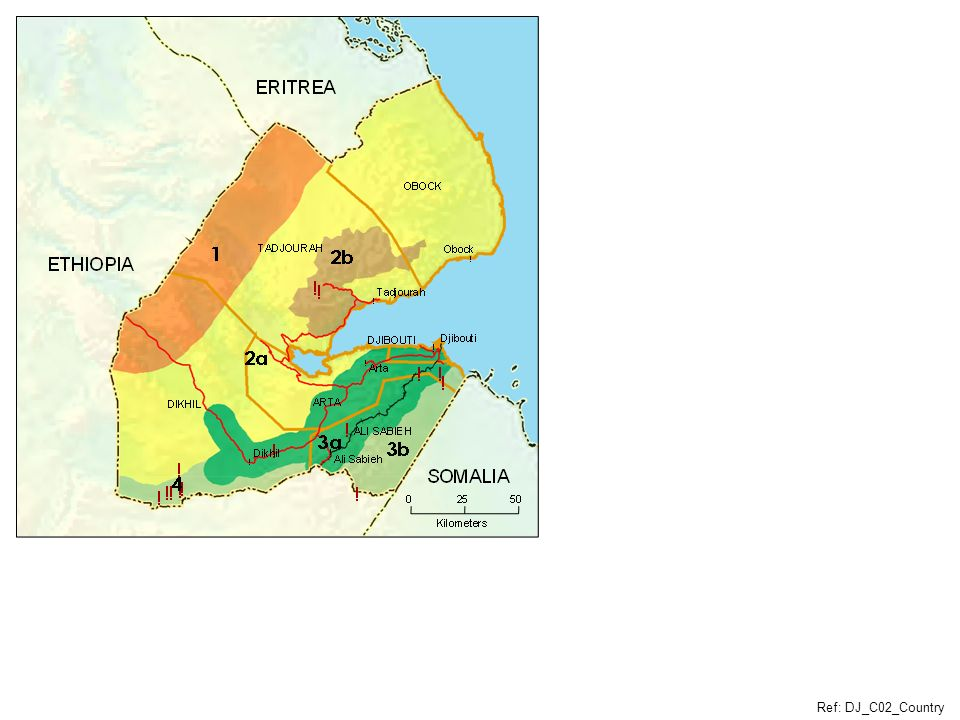 Djibouti Livelihood Zones Scale: 1:1,500,000 Paste without resizing to maintain above scale