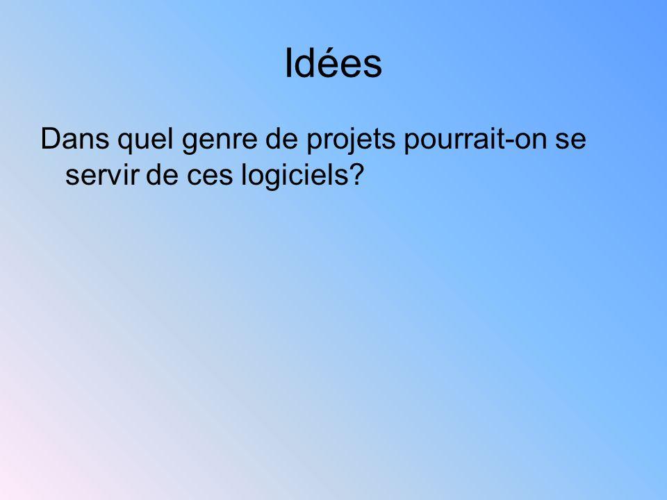Idées Dans quel genre de projets pourrait-on se servir de ces logiciels?