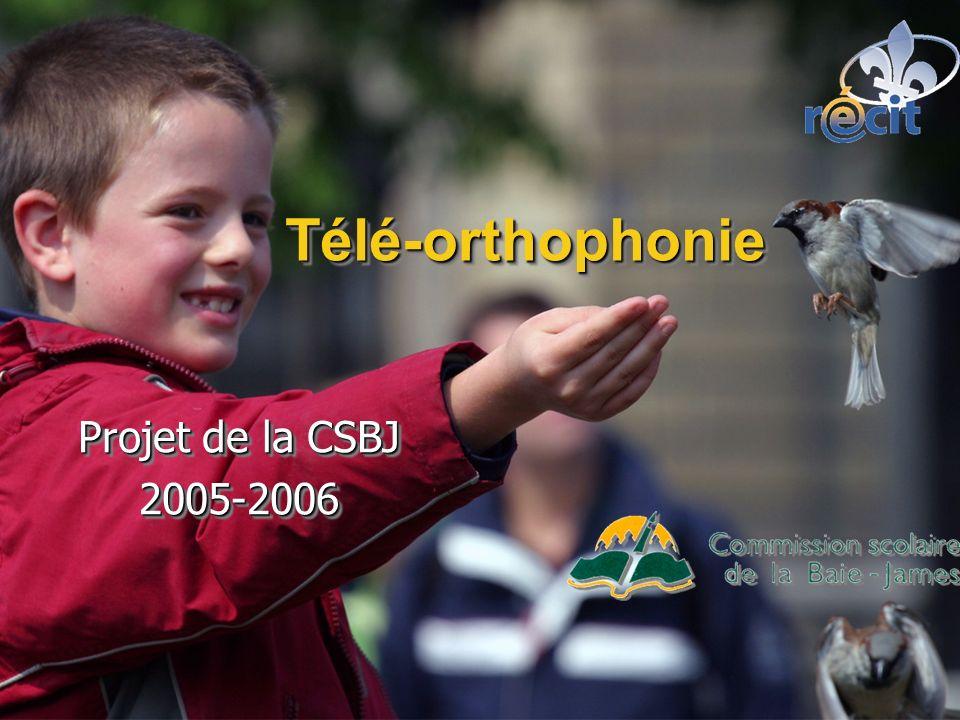 Télé-orthophonieTélé-orthophonie Projet de la CSBJ 2005-2006 2005-2006