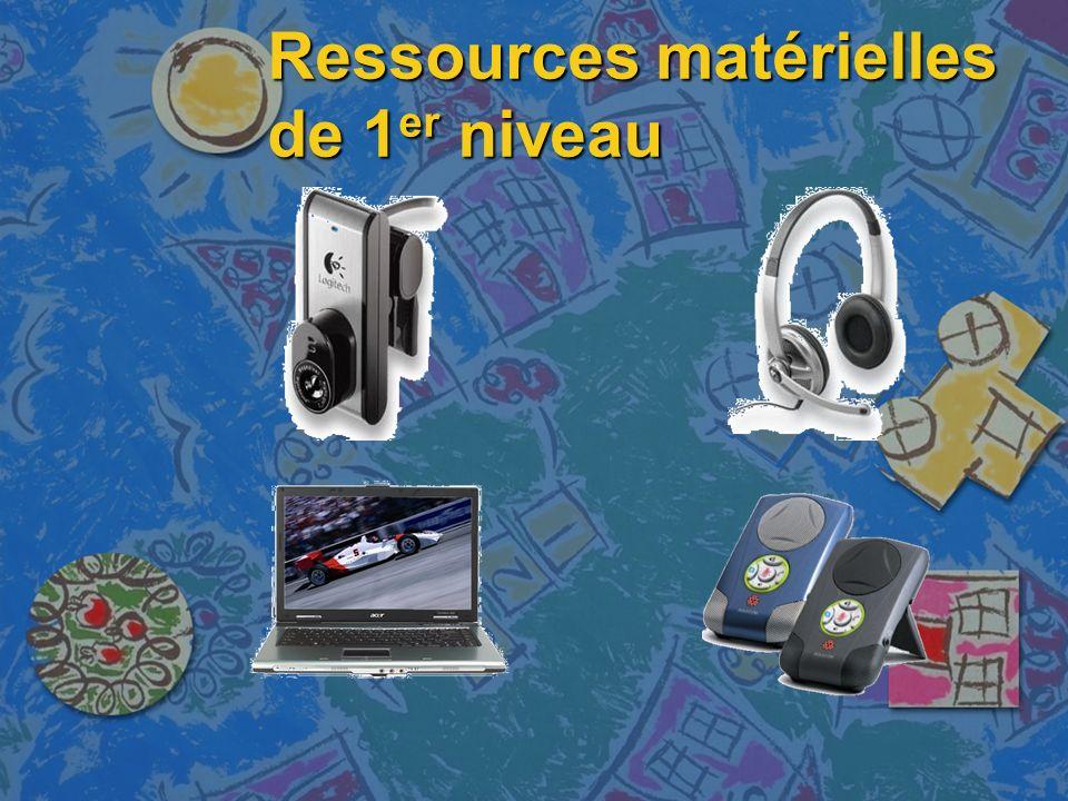 Ressources matérielles de 1 er niveau