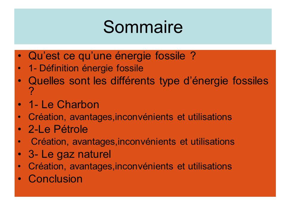Quest ce quune énergie fossile.
