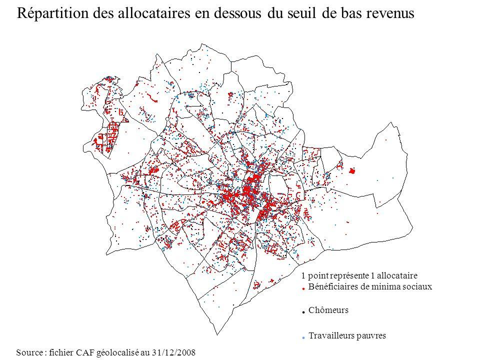 Page 26 La géolocalisation Elodie Fille - Roger Rabier11/06/2009 1 point représente 1 allocataire. Bénéficiaires de minima sociaux. Chômeurs. Travaill