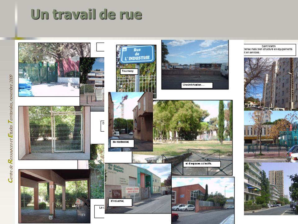 C entre de R essources et E tudes T erritoriales, novembre 2009 10 Un travail de rue