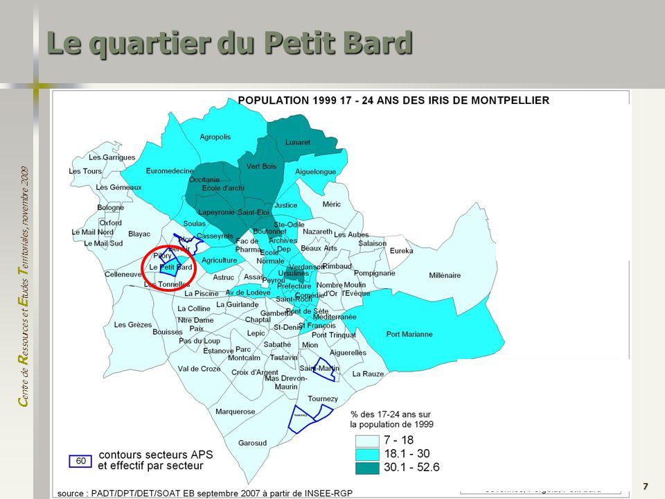 C entre de R essources et E tudes T erritoriales, novembre 2009 7 Le quartier du Petit Bard