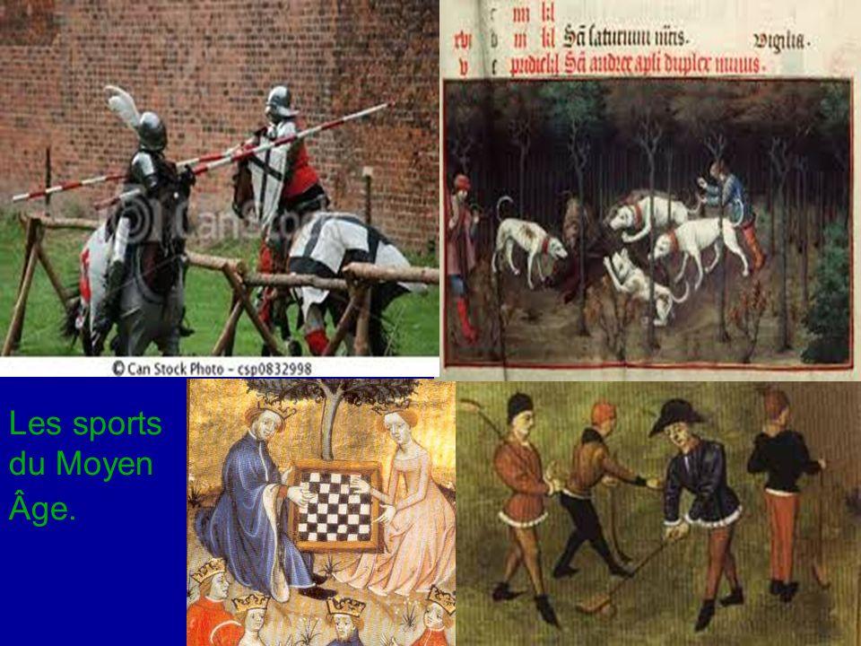Les tournois étaient très appréciés au Moyen Âge.